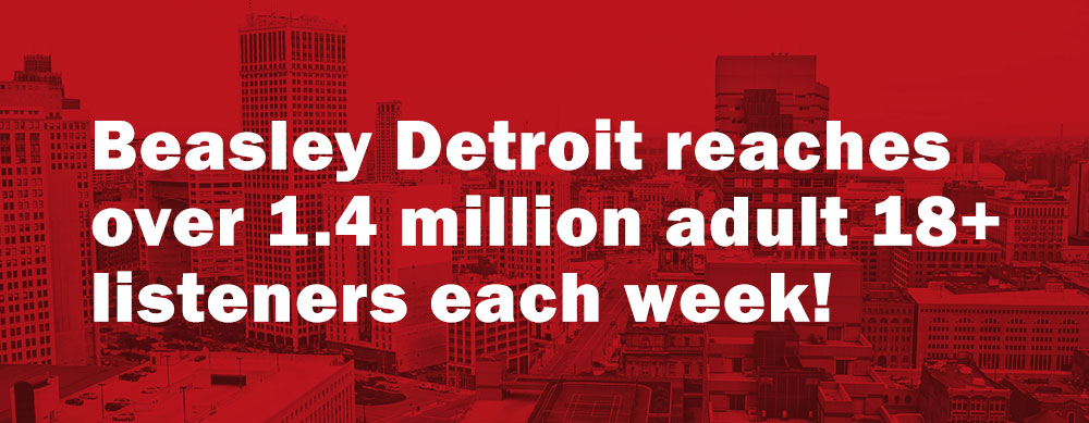 Beasley Detroit Radio Stations reach 1.4 millions adult listeners